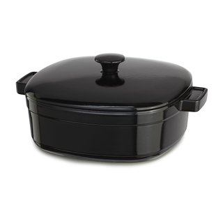 KitchenAid KCLI60CROB Streamline Black Cast Iron/Porcelain 6-Quart Casserole Dish