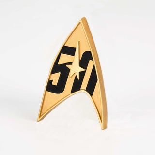 Quantum Mechanix 'Star Trek' 50th Anniversary Metal Magnetic Badge