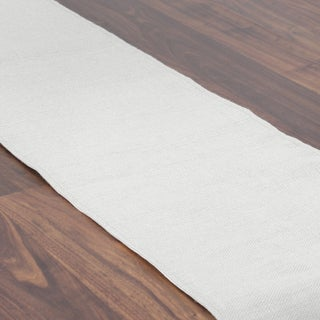 Off-white Synthetic Fiber Burlap 12.5-inch x 72-inch Table Runner