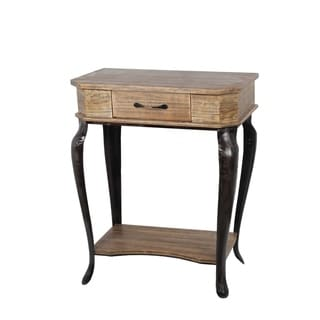Privilege Light Brown Wood Traditional 1-drawer Accent Stand