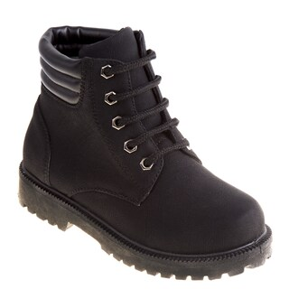 Rugged Bear Girls' Tan/Black/Pink Polyurethane Casual Boots (More options available)