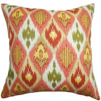 Bechet Ikat Throw Pillow Cover