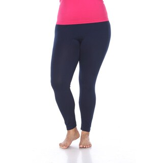 White Mark Women's Plus Size Legging Pack of 3