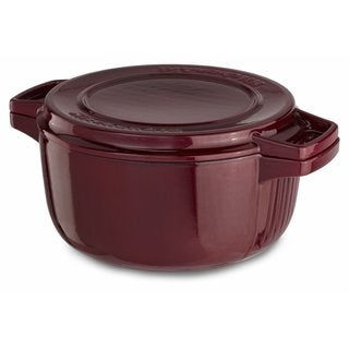 KitchenAid KCPI40CRRR Royal Red Cast Iron 4-quart Professional Casserole Cookware