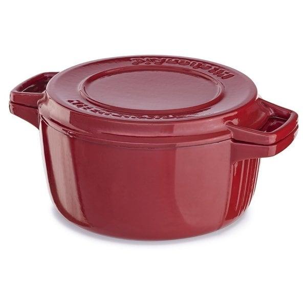 Shop Kitchenaid Kcpi60crer Empire Red Cast Iron 6 Quart