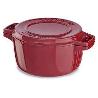 KitchenAid KCPI60CRER Empire Red Cast Iron 6-quart Professional Casserole Cookware