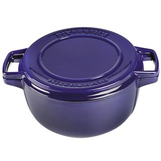 KitchenAid KCPI60CRFU Professional Blue Cast Iron/Porcelain 6-quart Casserole Cookware