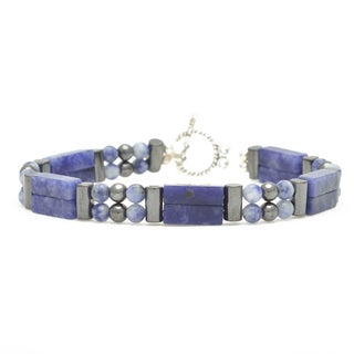 Healing Stones for You Sodalite Double Power Bracelet 'Blood Pressure Control'