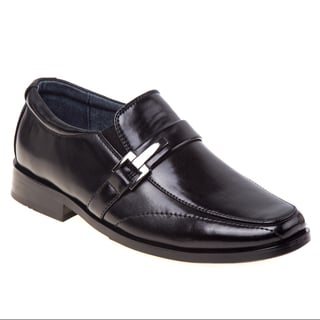 Joseph Allen Boy's Black Polyurethane Oxford Dress Shoes