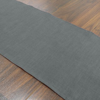 Circa Charcoal Linen, Polyester 12.5-inch x 72-inch Runner