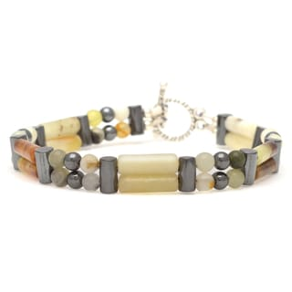 Healing Stones for You Serpentine Double Power Bracelet 'Control your Life'
