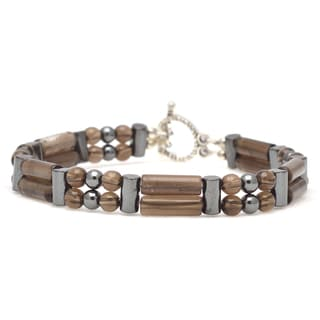Healing Stones for You Smoky Quartz Double Power Bracelet 'Concentration'