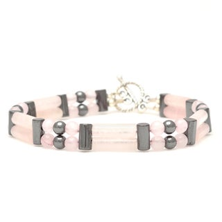 Healing Stones for You Rose Quartz Double Power Bracelet 'Attract Love'