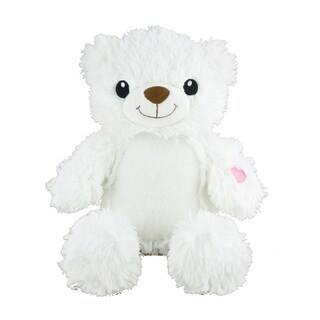 Winfun White 12-inch Light-up Musical Bear