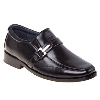 Joseph Allen Boys' White/Black Polyurethane Dress Shoes