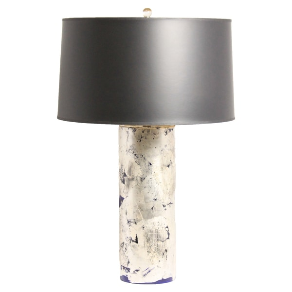 Aidan Gray Blue Silver Leaf Table Lamp