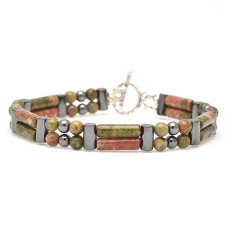Healing Stones for You Unakite Double Power Bracelet 'Healthy Pregnancy'