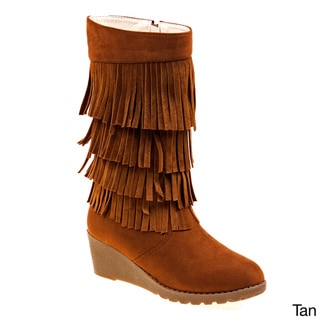Kensie Girl Fringe Wedge Boots