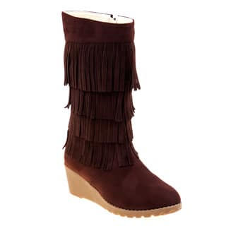 Kensie Girl Fringe Wedge Boots|https://ak1.ostkcdn.com/images/products/11993414/P18873209.jpg?impolicy=medium
