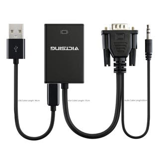 VGA to HDMI Output 1080p H + Audio TV AV HDTV Video Cable Converter Black Adapter for TV/PC Laptop Monitor|https://ak1.ostkcdn.com/images/products/11993428/P18873158.jpg?impolicy=medium