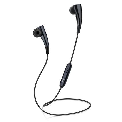Mpow Black 2-in-1 Magnet Circle Bluetooth V4.1 Wireless Stereo Headphones