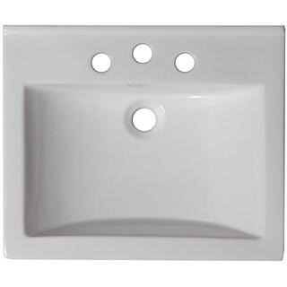 21-in. W x 18.5-in. D Ceramic Top In White Color For 4-in. o.c. Faucet