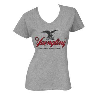 'Yuengling' Women's 35087 Grey Cotton and Polyester T-Shirt
