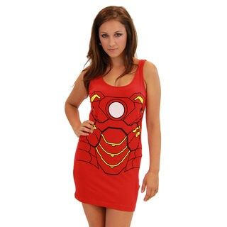 Iron Man Women's Red Cotton/Spandex Tank Dress (2 options available)
