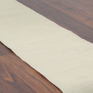 Burlap Natural Tan Synthetic Fiber 12.5-inch x 90-inch Runner