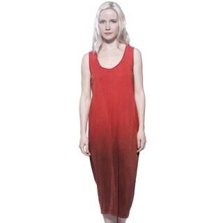 AtoZ Women's Ombre Multicolor Cotton Maxi Dress