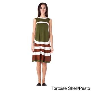 AtoZ Sleeveless Knee Length Stripe Dress