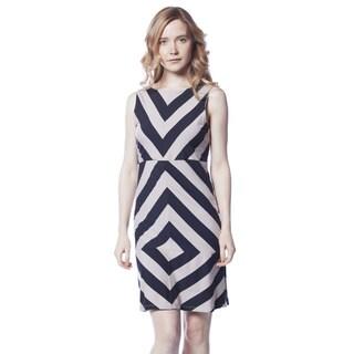 AtoZ Women's Modal Sleeveless Striped Dress