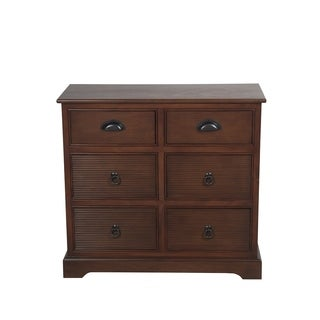 Privilege Chocolate Walnut Wood Transitional 2/4-drawer Storage