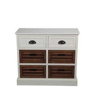 Privilege Cream Honeynut White Wood Transitional 2/4-drawer Storage Unit