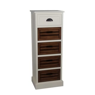 Privilege Cream Honeynut White Transitional 1/4-drawer Storage Unit