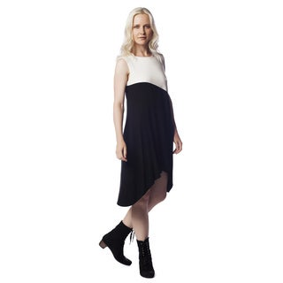 AtoZ Asymmetric Modal High-low Dress