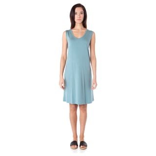 AtoZ Sleeveless U-neck Knee Length Dress