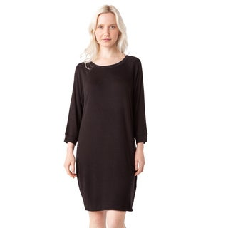 AtoZ Raglan Sleeve Thermal Modal Dress