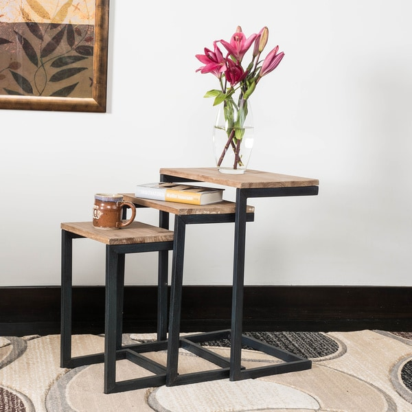 Shop Tohono Firwood Piece Nesting Table Set By Christopher Knight - 3 piece nesting coffee table