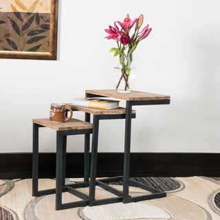 Tohono Firwood 3-piece Nesting Table Set by Christopher Knight Home & Nesting Tables Coffee Console Sofa \u0026 End Tables For Less ...