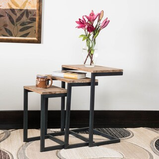 Tohono Firwood 3-piece Nesting Table Set by Christopher Knight Home