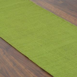 Burlap Avocado Green Synthetic Fiber 12.5-inch x 72-inch Runner