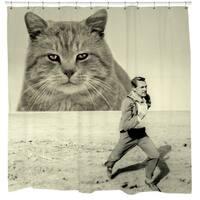 Sharp Shirter Attack of The Fifty-foot Feline Shower Curtain