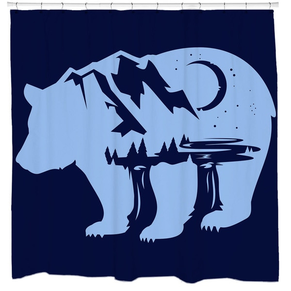 Sharp Shirter Bearscape Shower Curtain