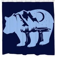 Sharp Shirter Bearscape Shower Curtain