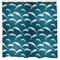Sharp Shirter Calm Waves Shower Curtain