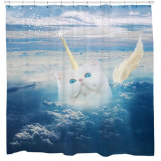 Sharp Shirter Caticorn/ Cat Shower Curtain