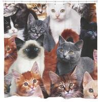 Sharp Shirter Cats For Days/ Cat Shower Curtain