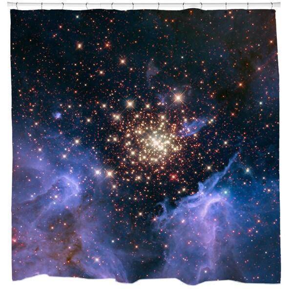 Sharp Shirter Celestial Fireworks Shower Curtain