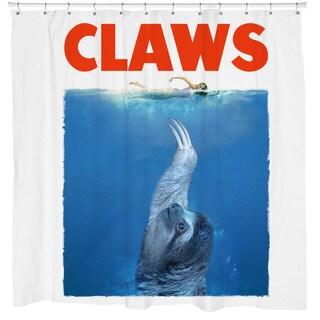 Sharp Shirter Claws Sloth Shower Curtain